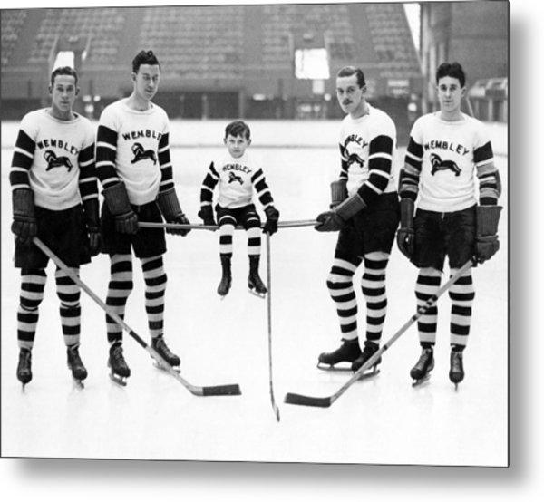 Ice Hockey Mascot Metal Print