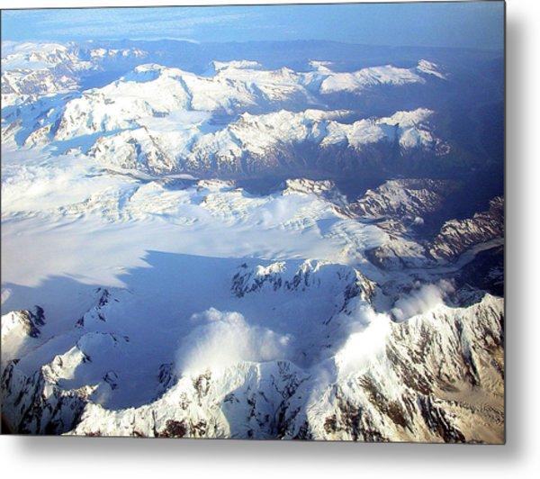 Icebound Mountains Metal Print