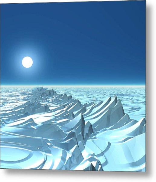 Icy Alien Planet, Artwork Metal Print