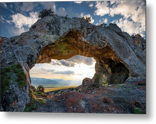 Metal Print featuring the photograph Idaho Natural Arch by Leland D Howard