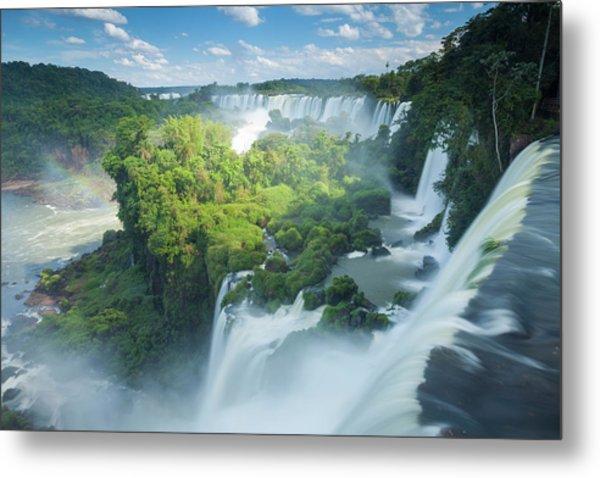 Igauzu Falls In Argentina Metal Print by Grant Ordelheide
