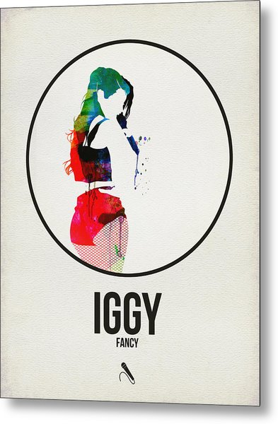 Iggy Azalea Watercolor Metal Print