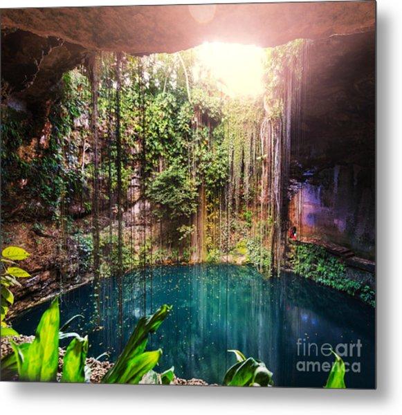Ik-kil Cenote,  Mexico Metal Print