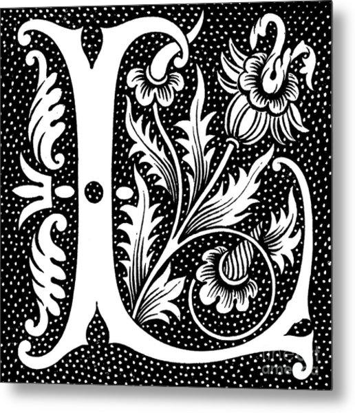 Illuminated Letter L Metal Print