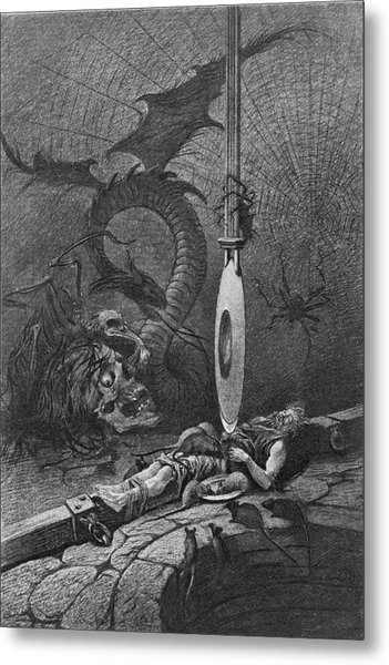 Illustration For Poes The Pit And The Metal Print by Kean Collection