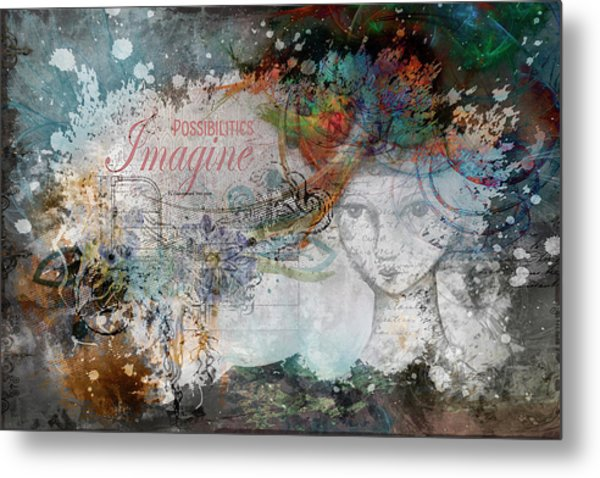 Imagine Possibilities Metal Print