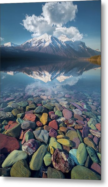 Metal Print featuring the photograph Immaculate Reflection / Lake Mcdonald, Glacier National Park  by Nicholas Parker