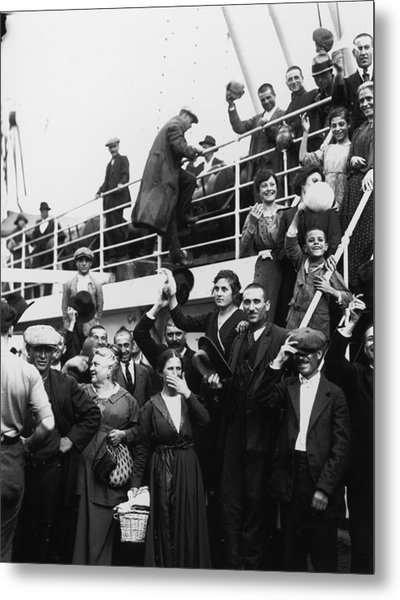 Immigrants Metal Print by Fotosearch