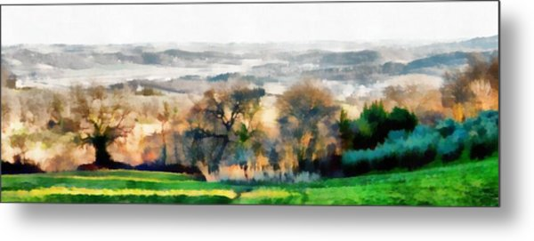 Impressions Of Early Morning In Umbria Metal Print