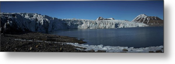 In Front Of A Glacier On Svalbard Metal Print