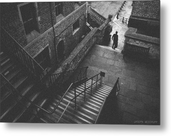 In Pursuit Of The Devil On The Stairs Metal Print