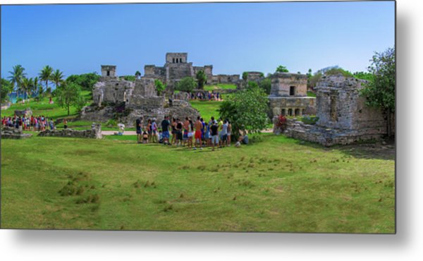 In The Footsteps Of The Maya Metal Print