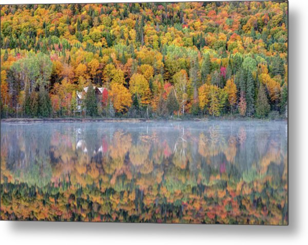 Metal Print featuring the photograph In The Heart Of Autumn by Pierre Leclerc Photography