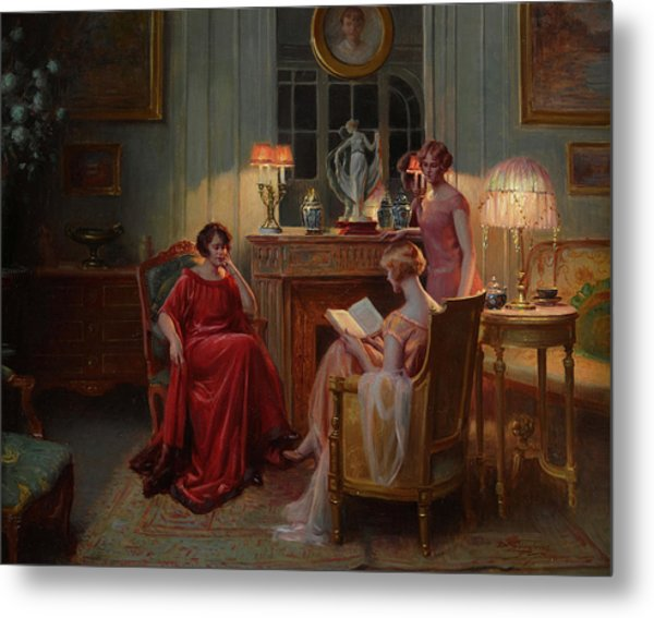In The Reading Room Metal Print