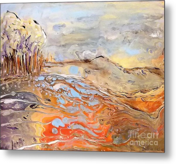 Metal Print featuring the painting In The Valley by Deborah Nell