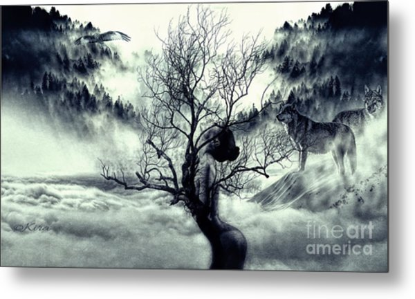 In Winter The Trees Are Naked Metal Print