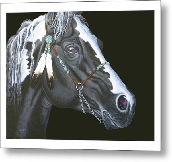 Indian Paint Horse Metal Print