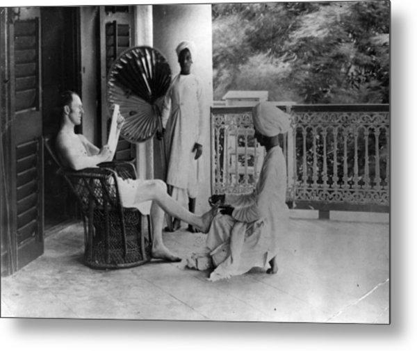 Indian Pedicure Metal Print by Hulton Archive