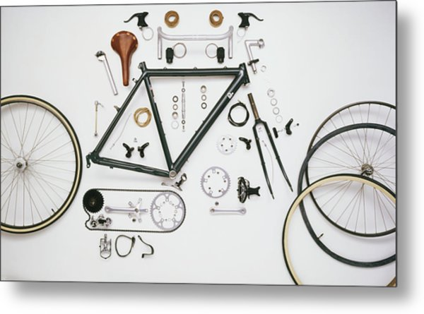 Individual Parts Of A Touring Bike Metal Print