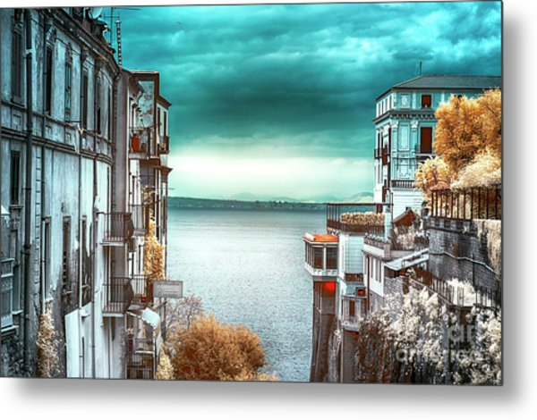 Infrared Bay Of Naples View Metal Print by John Rizzuto
