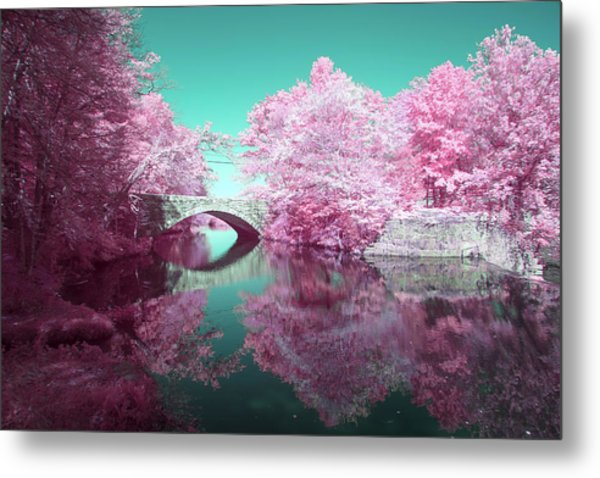 Infrared Bridge Metal Print