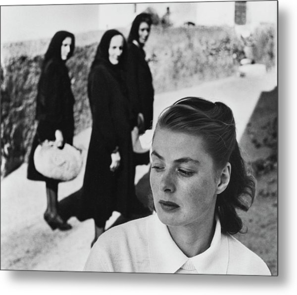 Ingrid Bergman In Italy For Stromboli Metal Print by Gordon Parks