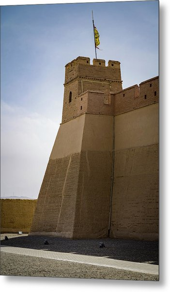 Inner Tower Guan City Jiayuguan Gansu China Metal Print