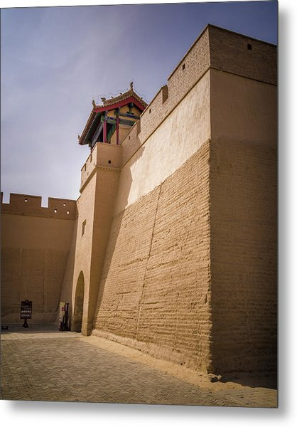 Inner Wall Gate Guan City Jiayuguan Gansu China Metal Print