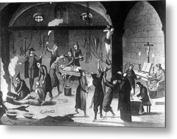 Inquisition Tortures Metal Print by Three Lions