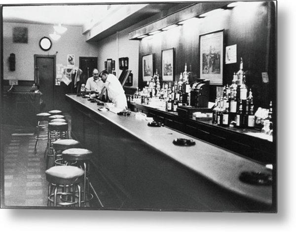 Inside The Cedar Street Tavern Metal Print