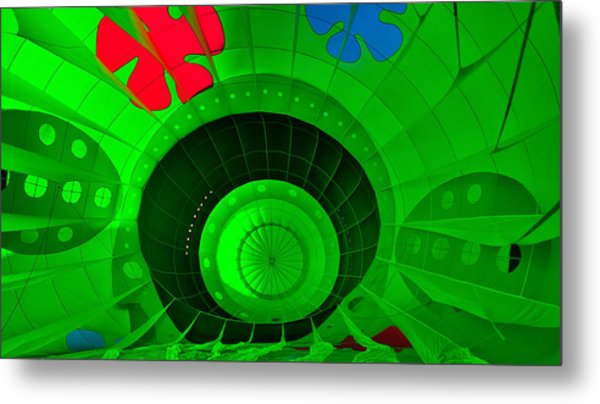 Inside The Green Balloon Metal Print