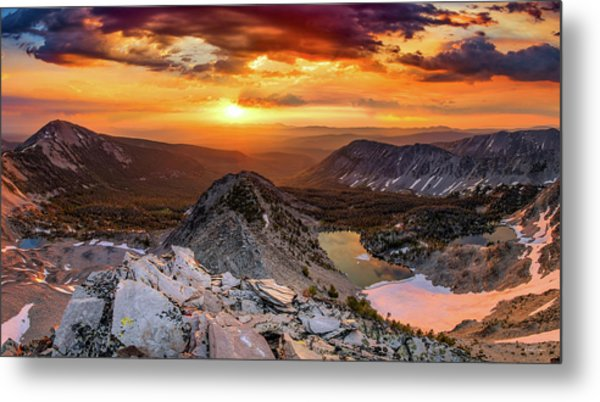 Metal Print featuring the photograph Inspiring Sunrise  by Leland D Howard