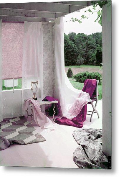 Interior Decorating Materials Metal Print