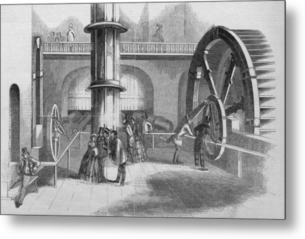Interior Of The Fairmont Water Works Metal Print by Kean Collection