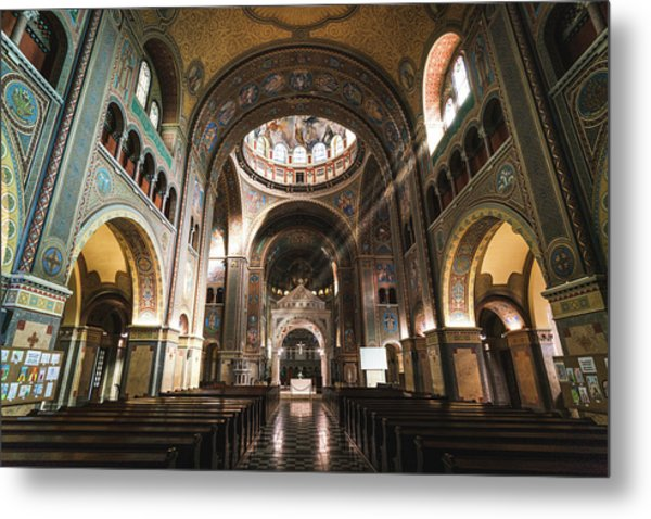 Interior Of The Votive Cathedral, Szeged, Hungary Metal Print