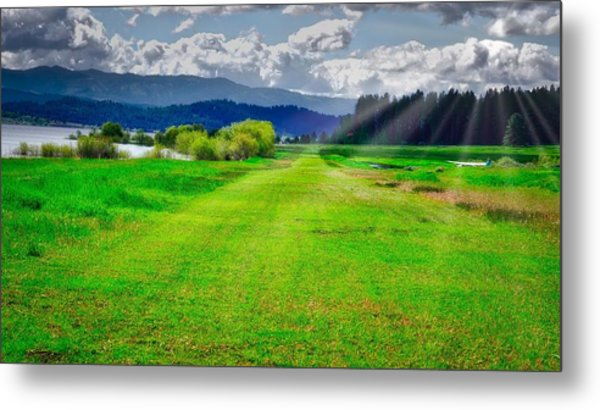 Inviting Airstrip Metal Print