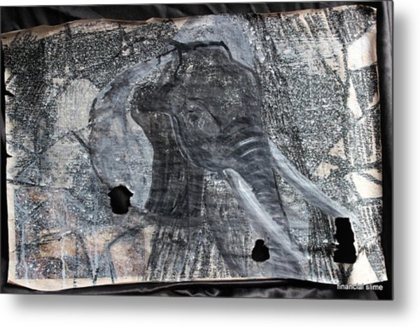 Isn't There Always An Elephant That No One Can See Metal Print