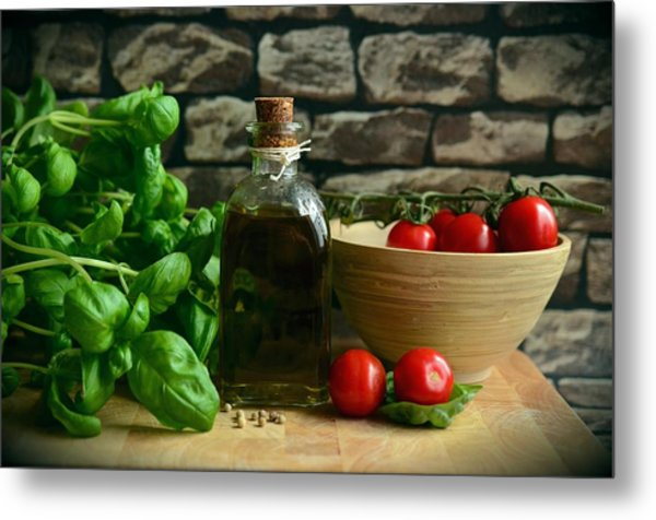 Italian Ingredients Metal Print