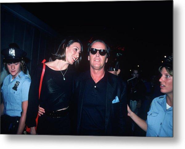 Jack Nicholson, Anjelica Huston Metal Print
