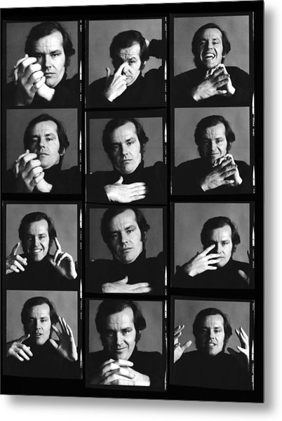 Jack Nicholson Contact Sheet Metal Print