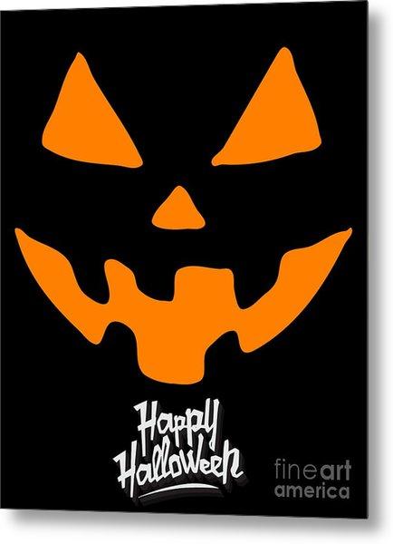 Jackolantern Pumpkin Happy Halloween Metal Print