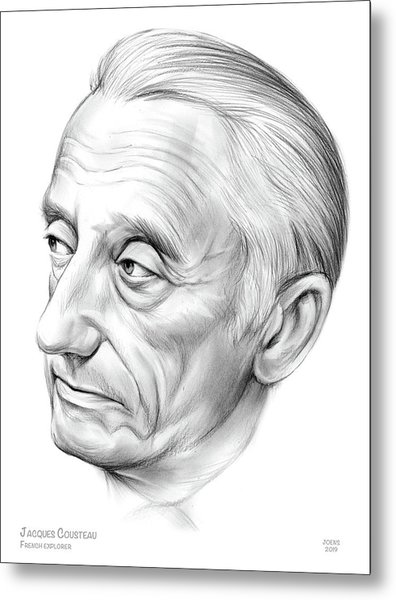 Jacques-yves Cousteau Metal Print