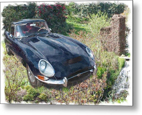Jaguar E Type Metal Print