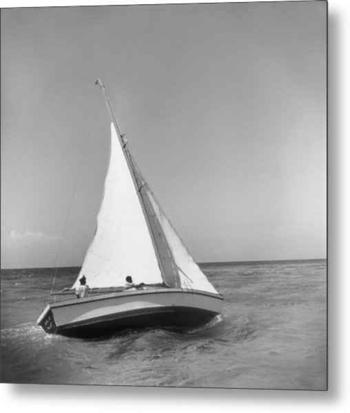 Jamaica Sea Sailing Metal Print by Slim Aarons