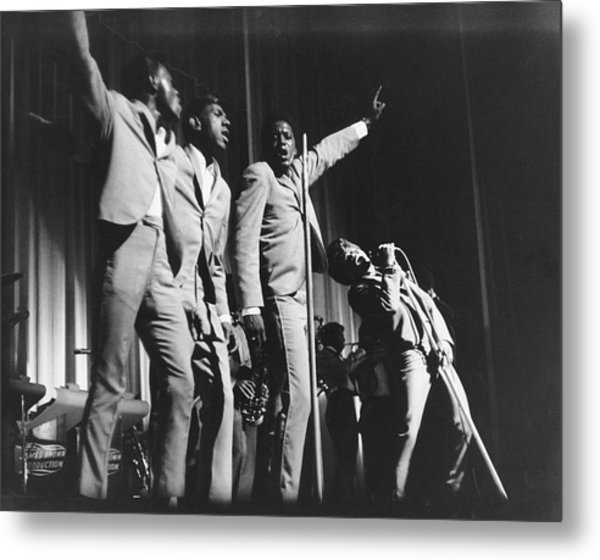 James Brown & The Famous Flames Live At Metal Print