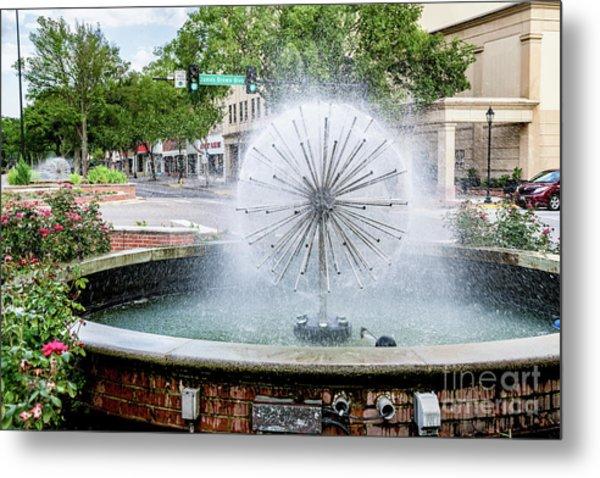 James Brown Blvd Fountain - Augusta Ga Metal Print