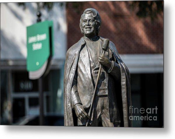 James Brown Statue - Augusta Ga Metal Print