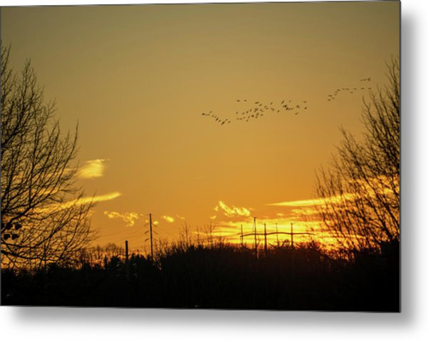 January Sunset - Lehigh Valley - Photography Metal Print