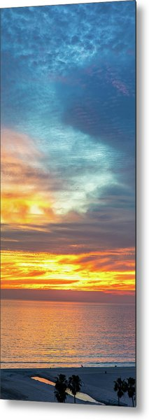 January Sunset - Vertirama Metal Print