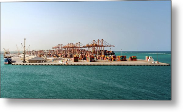 Metal Print featuring the photograph Jeddah Seaport by William Dickman